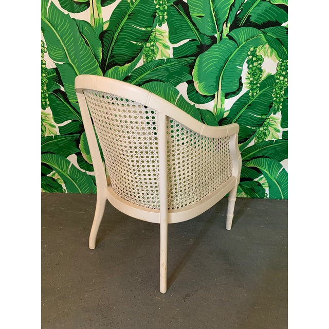 1970s Vintage Cane Back Barrel Chairs, Set of Four For Sale - Image 5 of 9