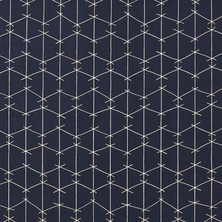 Criss Cross Outdoor -Acrylic- True Blue Fabric by Ferrick Mason - 10 Yards For Sale