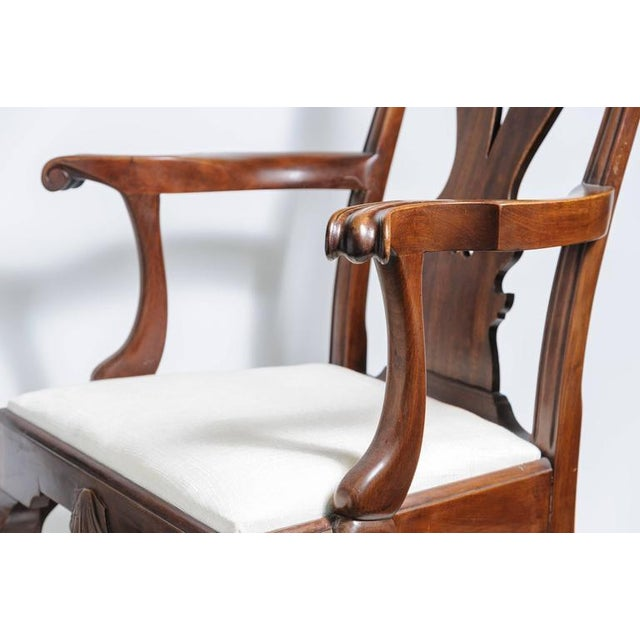 Set of Six 19th Century English, Chippendale Style Mahogany Dining Chairs - Image 3 of 8