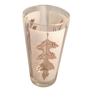 Libby Gold Leaf Water Glass For Sale