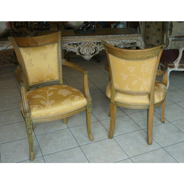 Hand-Carved European Accent Chairs - a Pair - Image 4 of 9