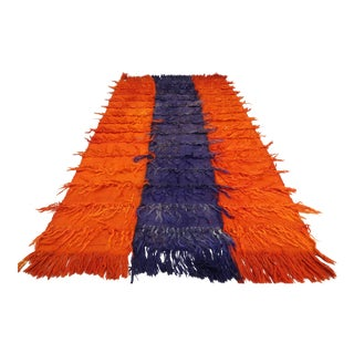 Anatolia Turkish Nomads Shaggy Rug-2′11″ × 5′ For Sale