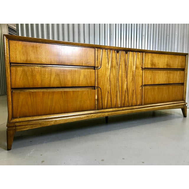 Mid-Century Nine Drawer Dresser - Image 3 of 11