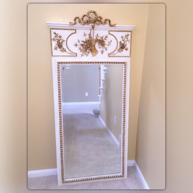 French White & Gilt Trumeau Mirror - Image 2 of 11