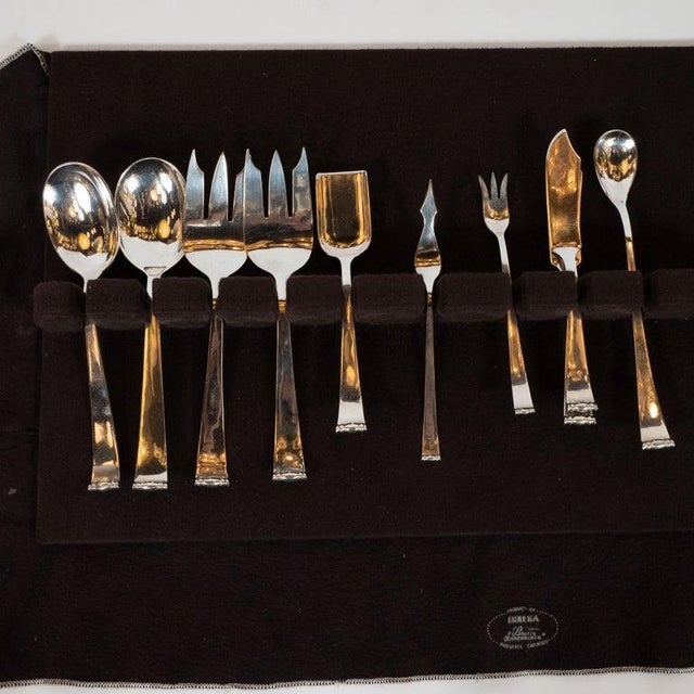 Allan Adler Allan Adler Sterling Sliver Modern Georgian Hand Wrought Flatware Service for 24 For Sale - Image 4 of 13