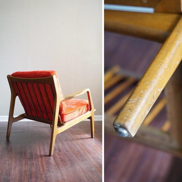 Ib Kofod Larsen Style Mid-Century Danish Modern Lounge Chair - Image 6 of 6