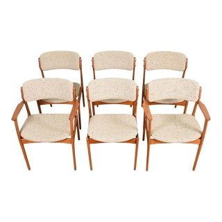 Set of 6 Teak Dining Chairs by Erik Buch For Sale