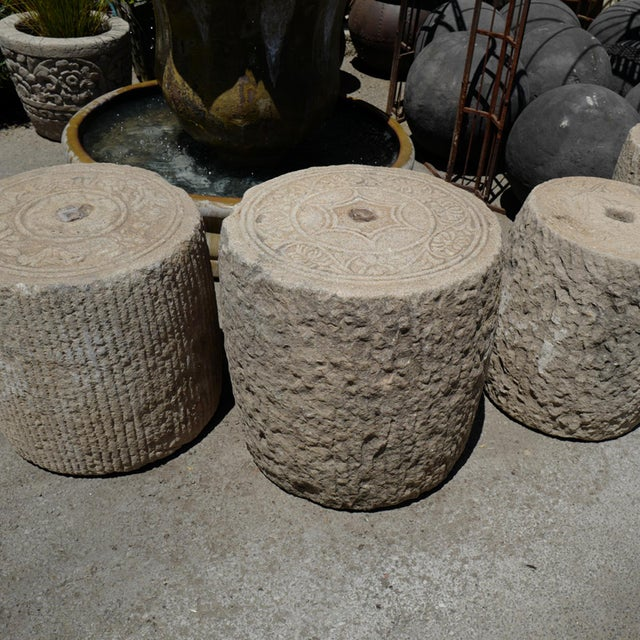 Rustic Old Granite Field Roller For Sale - Image 3 of 5