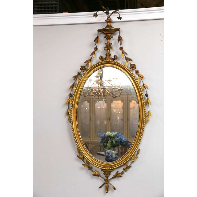 Adams Style Giltwood and Gesso Carved Mirror - Image 2 of 7