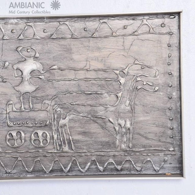 1960s Mid-Century Modern Brutalist Wall Plaque For Sale - Image 5 of 5