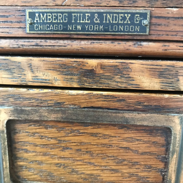 Early 20th Century Amberg File & Index Co. Stacking File Cabinet For Sale In San Francisco - Image 6 of 8