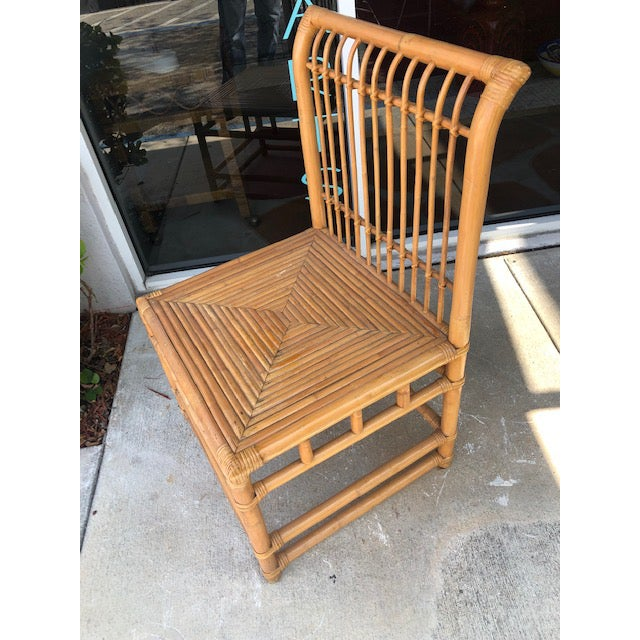 Tropical Chic, bamboo and rattan chair, great very detail design. Excellent accent chair to complement any room.