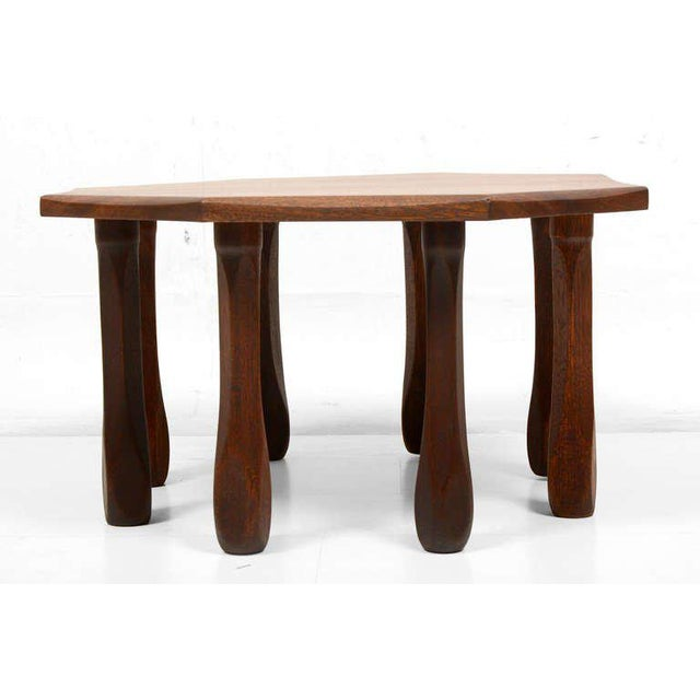 Mid-Century Modern Octagon Solid Mahogany Side Table For Sale - Image 3 of 8