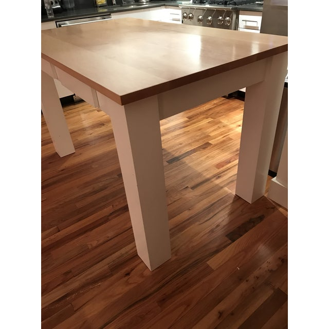 Custom Maple Island Table - Image 5 of 7
