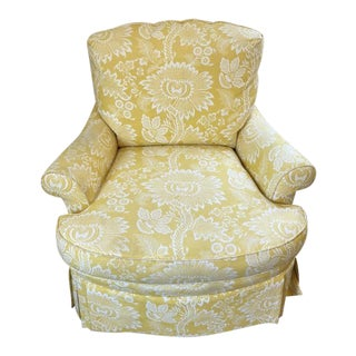 20th Century Traditional Swivel Club Chair