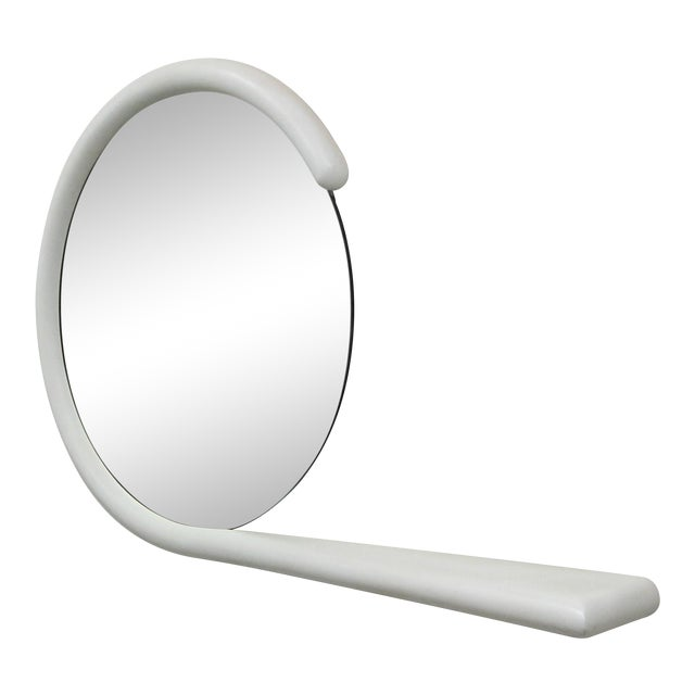 Post Modern Wall Mirror With Console Shelf by Jay Spectre For Sale