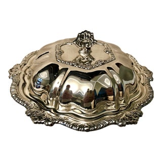 Silver-Plated Serving Dish For Sale