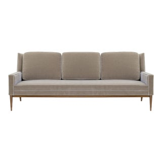 "Three-Seat ""Model 1307"" Sofa in Mohair by Paul McCobb for Directional For Sale"