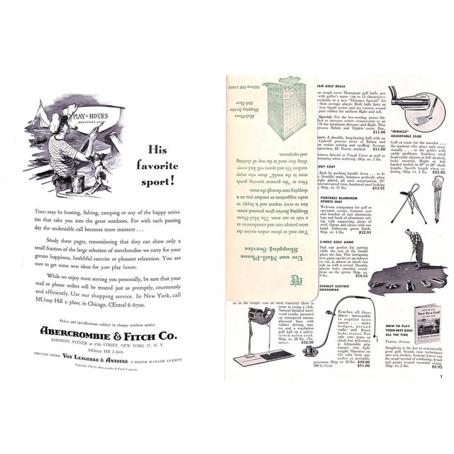 Paper Abercrombie & Fitch Play Hours 1953 Catalog For Sale - Image 7 of 8