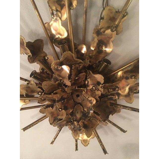 Tom Greene Tom Greene for Feldman Brutalist Torch Cut Wall Light Sconce For Sale - Image 4 of 10