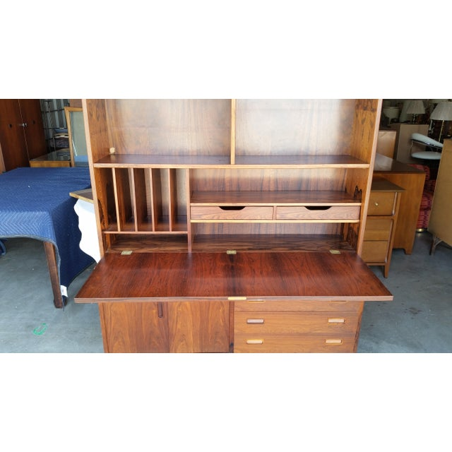 1960's Carlo Jensen Rosewood Wall Unit for Hundevad & Co For Sale - Image 6 of 12
