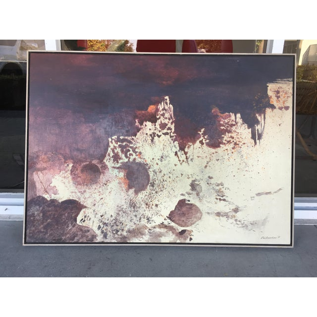 Mid Century Abstract Oil Painting by Anthony Vaiknoras For Sale - Image 10 of 10