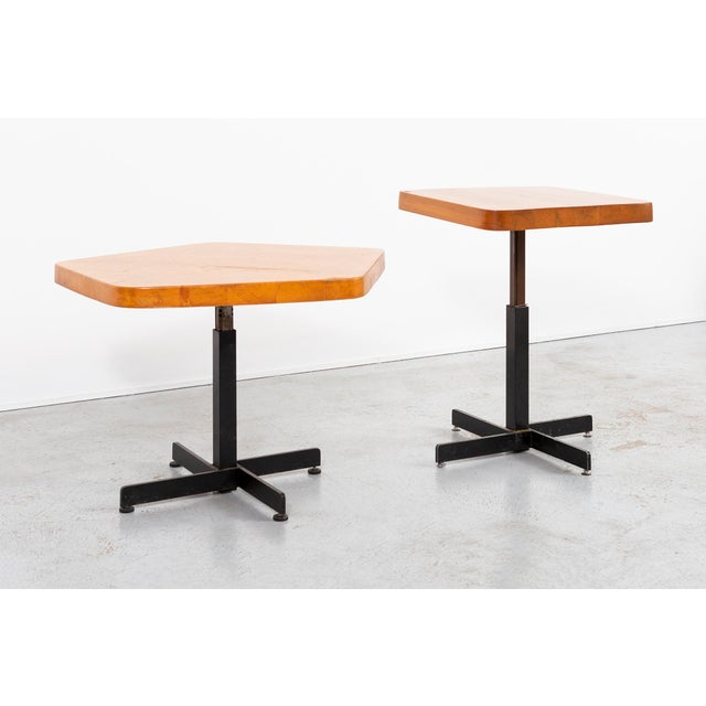 Les Arcs Adjustable Square Table by Charlotte Perriand For Sale - Image 9 of 11