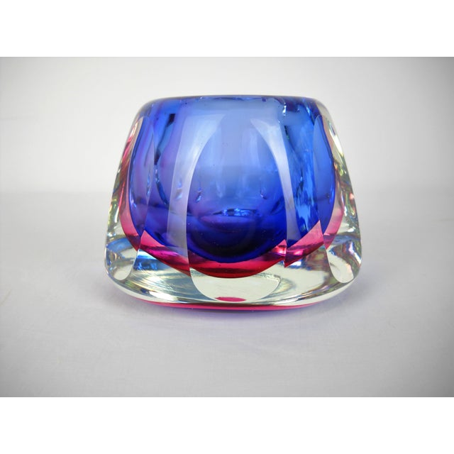 Flavio Poli Faceted Murano Glass Vase For Sale - Image 10 of 10