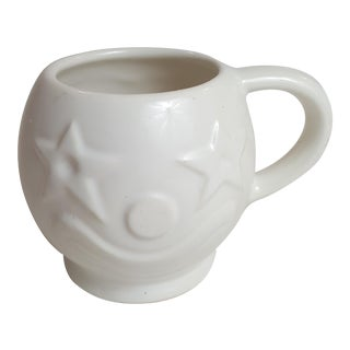 McCoy Clown Face Coffee Mug With Star Eyes All White