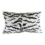 Image of Contemporary Scalamandre White Tigre Viscose Pillow For Sale