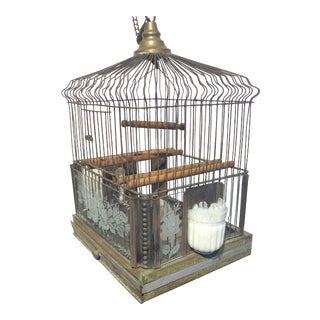 1920s Decorative Metal Bird Cage For Sale