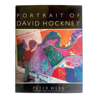 """ Portrait of David Hockney "" Rare 1st Edtn Vintage 1988 Collector's Hardcover Art Book For Sale"