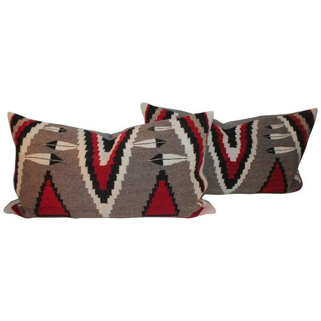 Navajo Indian Weaving Bolster Pillows - a Pair For Sale - Image 9 of 9