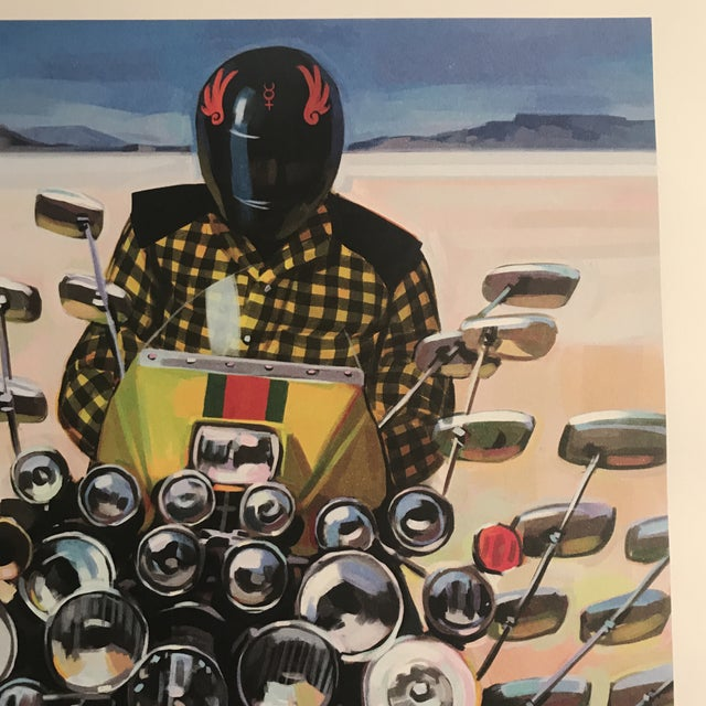 Gucci Framed Gucci Abstract Motorcycle Shoes & Rockstar Guitar Fashion Self Portrait Art - a Pair For Sale - Image 4 of 11