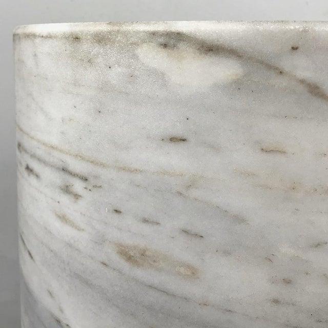 Pair Antique Solid Marble Half-Columns ~ Pedestals For Sale - Image 10 of 13