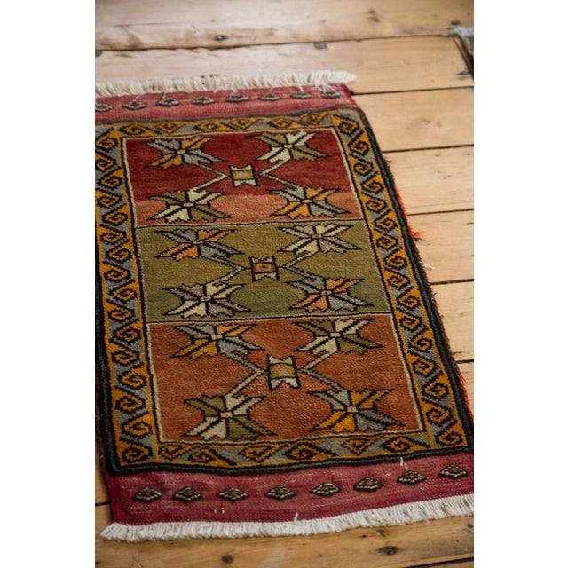 "Islamic Vintage Oushak Rug Mat - 1'7"" x 2'7"" For Sale - Image 3 of 5"