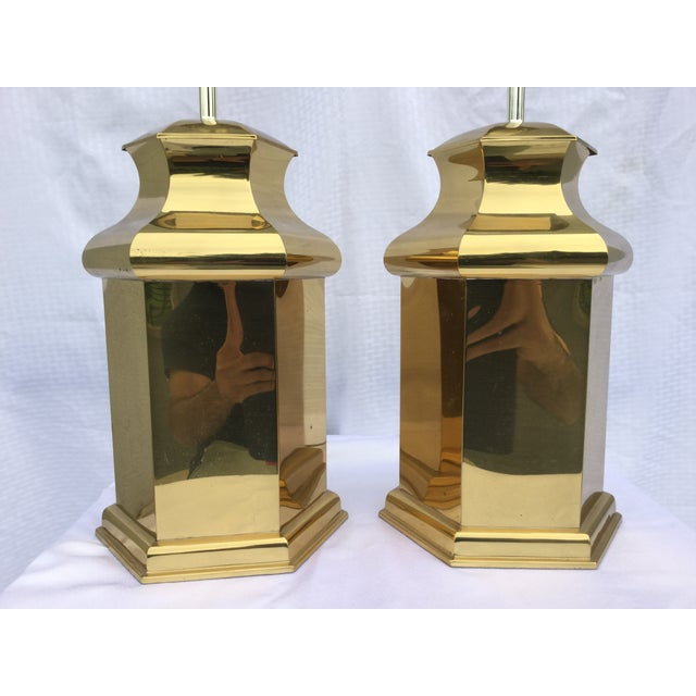 Modern Vintage Modern Brass Table Lamps For Sale - Image 3 of 11