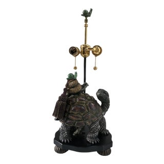Vintage Fredrick Cooper Turtle & Snail Table Lamp For Sale
