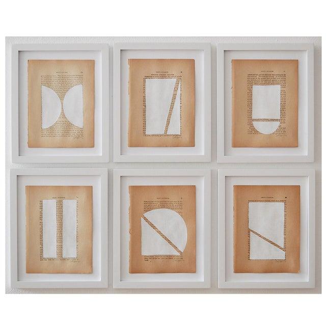 2010s Josh Young Design House - 6 Piece Blanc Géométrique Collection For Sale - Image 5 of 5