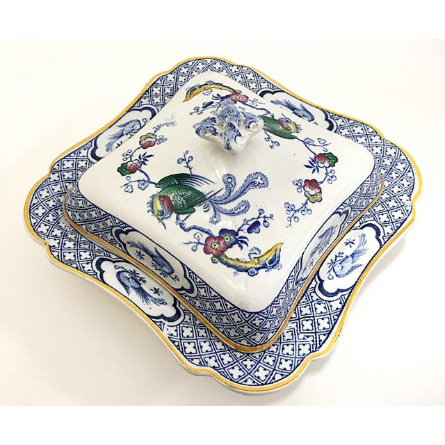Blue 1890s Lawleys Covered Tureens - A Pair For Sale - Image 8 of 11