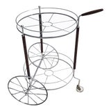 Image of Ultra Charming Rolling Cocktail Trolley Cart For Sale