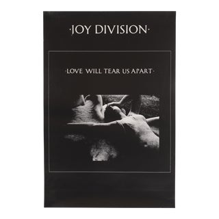 1980s Joy Division 'Love Will Tear Us Apart' Midnight Records Poster For Sale