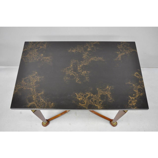 20th Century French Empire John Widdicomb Figural Bronze Mounted Occasional Lamp Table For Sale In Philadelphia - Image 6 of 12