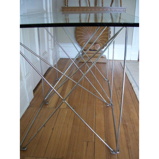 Mid-Century Modern Architectural Steel Base Table For Sale - Image 3 of 5