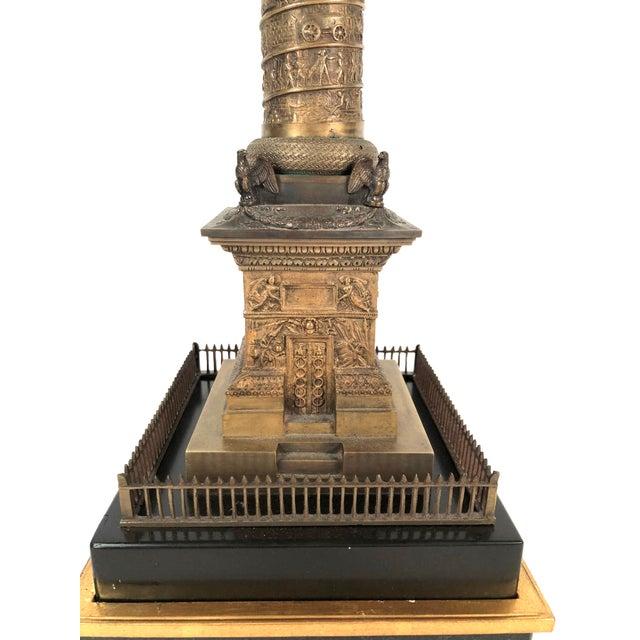 Large Grand Tour Gilt Bronze Model of the Place Vendome Napoleon Column in Paris For Sale - Image 9 of 13