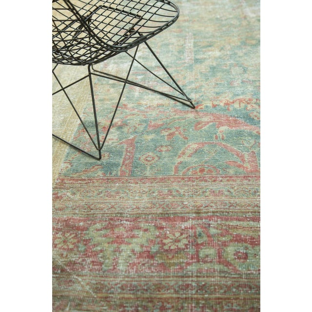 "Textile Antique Mahal Square Carpet - 9'10"" x 10'9"" For Sale - Image 7 of 10"