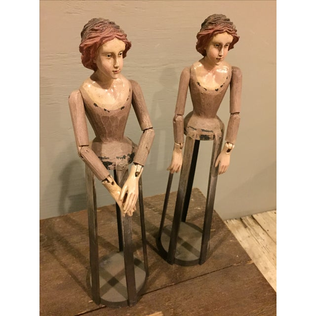 Vintage Reproduction Santos Cage Dolls - A Pair - Image 3 of 7