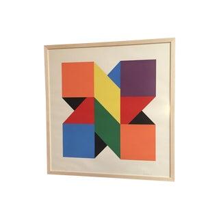 Original Colorful Lithograph, Jules Engel 1960's