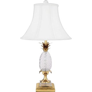 Pineapple & Brass Table Lamp Attributed to Maison Charles For Sale
