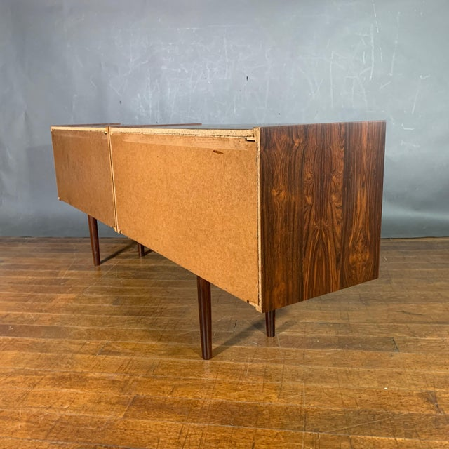 Peter Sorenson Double Low Rosewood Credenza, Denmark 1950s For Sale - Image 9 of 11